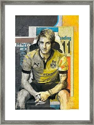 Marco Reus - B Framed Print by Corporate Art Task Force