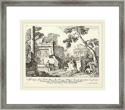 Marco Ricci Italian, 1676-1729, Landscape With Ruins Framed Print by Litz Collection