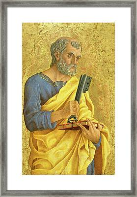 Marco Zoppo, Saint Peter, Italian, 1433-1478 Framed Print by Litz Collection