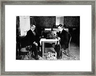 Marconi And Radio At South Foreland Framed Print by Science Photo Library