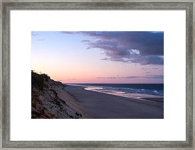 Marconi Beach At Dusk Framed Print by Brian Caldwell