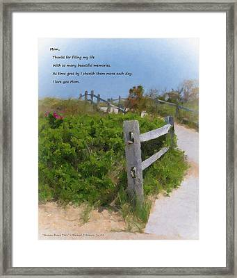 Marconi Beach Path Quote Framed Print