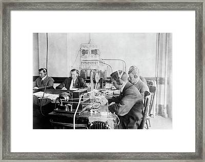 Marconi Wireless School Framed Print by Library Of Congress