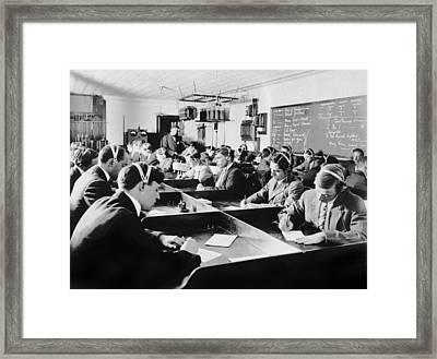 Marconi Wireless School Framed Print