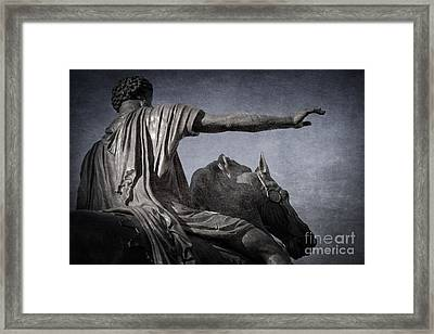 Marcus Aurelius - Rome  Framed Print by Rod McLean
