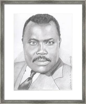 Marcus Garvey - Look For Me In The Whirlwind Framed Print by Michel Kress