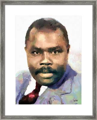 Marcus Garvey Framed Print by Wayne Pascall