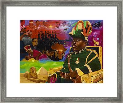 Marcus Mosiah Garvey Framed Print by Kolongi Brathwaite