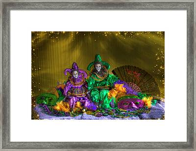 Mardi Gras 2014 Framed Print by Donna Kennedy