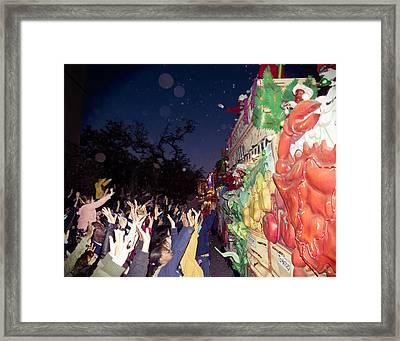 Mardi Gras Atmosphere Framed Print by Ray Devlin