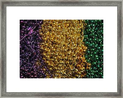 Mardi Gras Beads - New Orleans La Framed Print by Deborah Lacoste