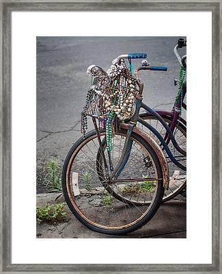 Mardi Gras Bicycle Framed Print by Brenda Bryant