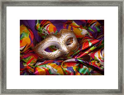 Mardi Gras - Celebrating Mardi Gras  Framed Print by Mike Savad