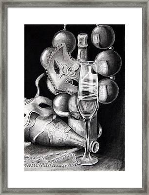 Mardi Gras Champagne Framed Print by Steve Ellenburg
