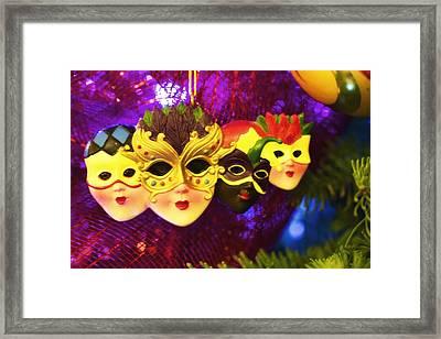 Mardi Gras Christmas Framed Print