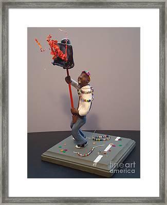 Mardi Gras Flambeau Framed Print by Katie Spicuzza