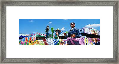 Mardi Gras Floats Framed Print