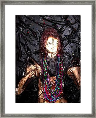 Mardi Gras Girl Finished Framed Print