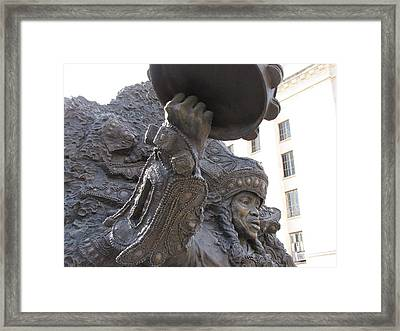 Framed Print featuring the photograph Mardi Gras Indian by Beth Vincent