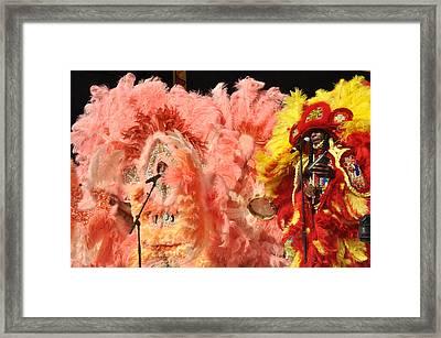 Mardi Gras Indians Framed Print by Diane Lent