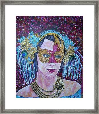 Mardi Gras Framed Print by Linda Vaughon