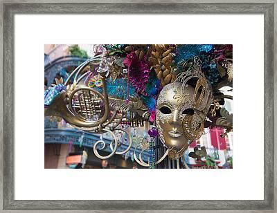 Mardi Gras Mask Framed Print by Heidi Smith