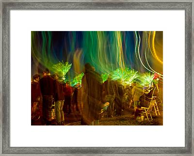 Mardi Gras Night Parade Framed Print