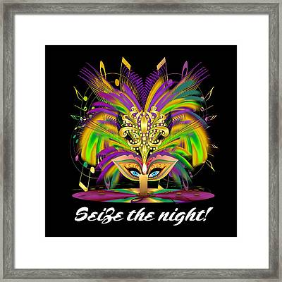 Mardi Gras Queen Style 2 Vector Sample Framed Print by Bill Campitelle