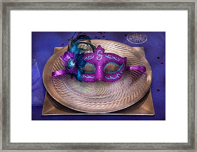 Mardi Gras Theme - Surprise Guest Framed Print by Mike Savad