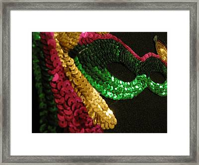 Framed Print featuring the photograph Mardi Gras Time by Beth Vincent