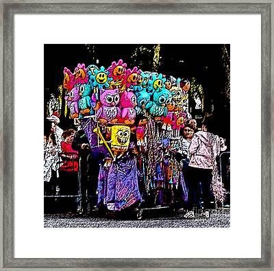 Mardi Gras Vendor's Cart Framed Print