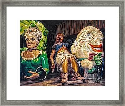 Mardi Gras World - Humpty Dumpty And Showgirls Framed Print by Gregory Dyer