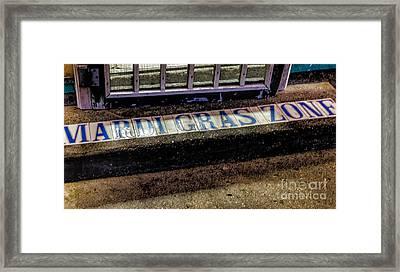 Mardi Gras Zone Nola Framed Print by Kathleen K Parker