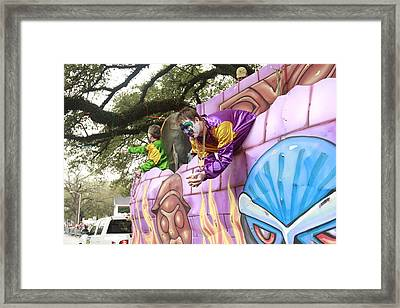 Mardigras In Louisiana Framed Print