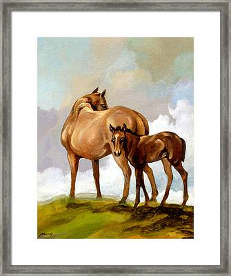 Mare And Foal Framed Print by Patricia Howitt