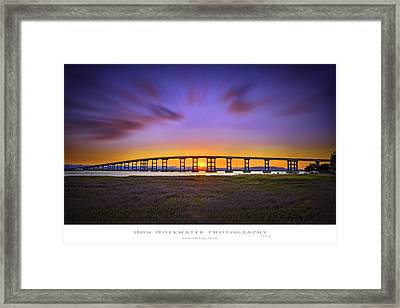 Mare Island Bridge Framed Print by PhotoWorks By Don Hoekwater