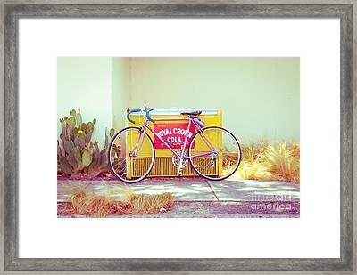 Marfa Cola Bike Framed Print by Sonja Quintero