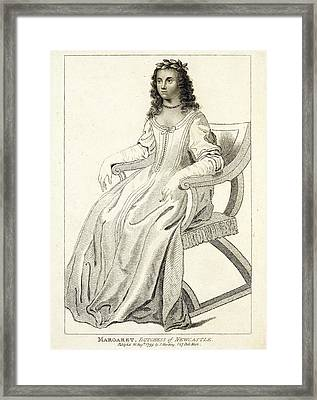 Margaret Cavendish Framed Print by British Library