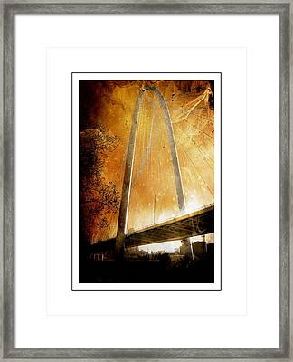 Margaret Hunt Hill Bridge Dallas Texas Framed Print by Kathy Churchman
