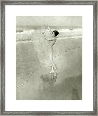 Margaret Severn On A Beach Framed Print