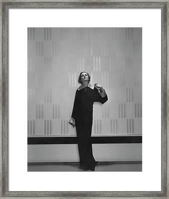 Margaret Shea Johnson Wearing A Wool Dress Framed Print
