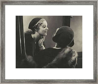 Margaret Shea Wearing A Bicorne Hat Framed Print