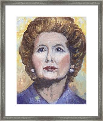 Margaret Thatcher Two Framed Print by Linda Mears