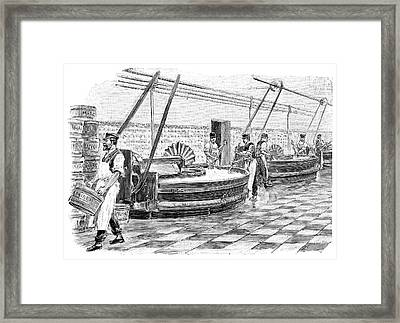 Margarine Production Framed Print