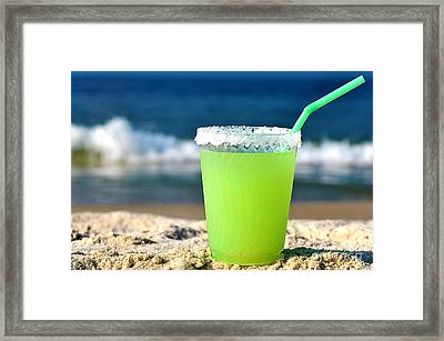 Margarita On The Beach Framed Print