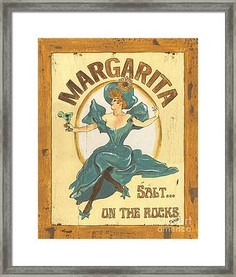 Margarita Salt On The Rocks Framed Print