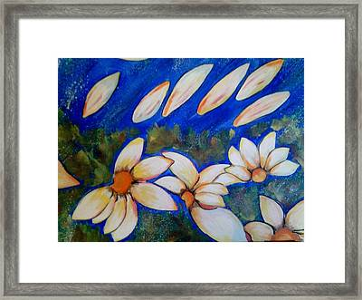 Margaritas Blancas Framed Print