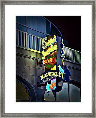 Margaritaville Framed Print by Bill Cannon