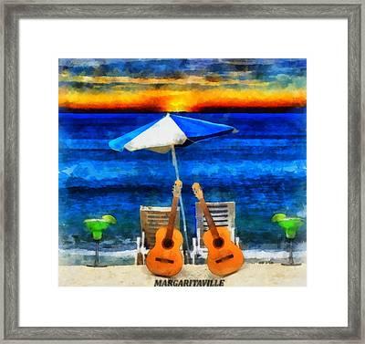 Margaritaville Framed Print by Dan Sproul