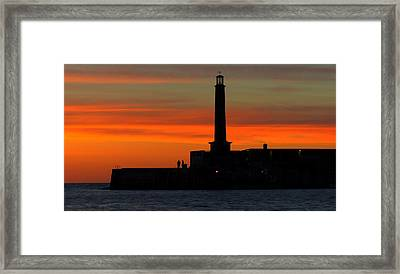 Margate Pier Sunset Framed Print